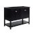 "Fresca Manchester 48"" Black Traditional Double Sink Bathroom Vanity Base Cabinet Only, Vanity Base Cabinet: 47-1/5"" W x 20"" D x 34"" H"
