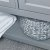 """48"""" Gray Vanity w/ Top & Sinks Open Shelf View"""