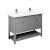 "48"" Gray Vanity w/ Top & Sinks Product Angle View"