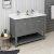 "Fresca Manchester Regal 48"" Gray Wood Veneer Traditional Double Sink Bathroom Vanity Base Cabinet w/ Top & Sinks, Vanity: 48"" W x 20-2/5"" D x 34-4/5"" H"