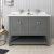 """48"""" Regal Gray Vanity w/ Top & Sinks Front View"""