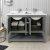 """48"""" Regal Gray Vanity w/ Top & Sinks Opened View"""