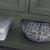 """48"""" Regal Gray Vanity w/ Top & Sinks Open Shelf View"""