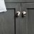"48"" Regal Gray Vanity w/ Top & Sinks Cabinet View"