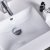 """48"""" Regal Gray Vanity w/ Top & Sinks Sink Close Up"""
