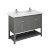 "48"" Regal Gray Vanity w/ Top & Sinks Product Angle View"