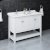 "Fresca Manchester 48"" White Traditional Double Sink Bathroom Vanity Base Cabinet w/ Top & Sinks, Vanity: 48"" W x 20-2/5"" D x 34-4/5"" H"