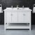 "48"" White Vanity w/ Top & Sinks Front View"