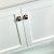 """48"""" White Vanity w/ Top & Sinks Door View"""