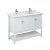 "48"" White Vanity w/ Top & Sinks Product Angle View"