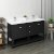 "Fresca Manchester 60"" Black Traditional Double Sink Bathroom Vanity Base Cabinet w/ Top & Sinks, Vanity: 60"" W x 20-2/5"" D x 34-4/5"" H"
