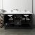 "60"" Black Vanity w/ Top & Sinks Opened View"