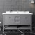 "60"" Gray Vanity w/ Top & Sinks Front View"