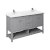 "60"" Gray Vanity w/ Top & Sinks Product Angle View"