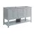 "Fresca Manchester 60"" Gray Traditional Double Sink Bathroom Vanity Base Cabinet Only, Vanity Base Cabinet: 60"" W x 20"" D x 34"" H"