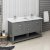 "Fresca Manchester Regal 60"" Gray Wood Veneer Traditional Double Sink Bathroom Vanity Base Cabinet w/ Top & Sinks, Vanity: 60"" W x 20-2/5"" D x 34-4/5"" H"