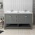 "60"" Regal Gray Vanity w/ Top & Sinks Front View"