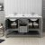 "60"" Regal Gray Vanity w/ Top & Sinks Opened View"
