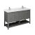 "60"" Regal Gray Vanity w/ Top & Sinks Product Angle View"