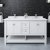 "60"" White Vanity w/ Top & Sinks Front View"