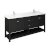 "72"" Black Vanity w/ Top & Sinks Product Angle View"