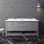 "72"" Gray Vanity w/ Top & Sinks Front View"
