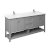 "72"" Gray Vanity w/ Top & Sinks Product Angle View"