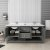 "72"" Regal Gray Vanity w/ Top & Sinks Opened View"