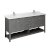 "72"" Regal Gray Vanity w/ Top & Sinks Product Angle View"