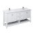 "72"" White Vanity w/ Top & Sinks Product Angle View"