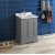 """Fresca Windsor 24"""" Gray Textured Traditional Bathroom Vanity Base Cabinet w/ Top & Sink, Base Cabinet: 24"""" W x 20-3/8"""" D x 34-5/16"""" H"""
