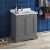 """Fresca Windsor 30"""" Gray Textured Traditional Bathroom Vanity Base Cabinet w/ Top & Sink, Base Cabinet: 30"""" W x 20-3/8"""" D x 34-5/16"""" H"""