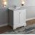 "Fresca Windsor 30"" Matte White Traditional Bathroom Vanity Base Cabinet w/ Top & Sink, Base Cabinet: 30"" W x 20-3/8"" D x 34-5/16"" H"
