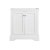 """Windsor 30"""" Matte White Front Closed View"""