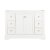 """Windsor 48"""" Matte White Front Closed View"""
