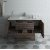 """Formosa 48"""" Vanity w/ Top & Sink Front View Opened View"""
