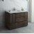 "Fresca Formosa 48"" Floor Standing Modern Bathroom Vanity Base Cabinet w/ Top & Sink, Base Cabinet: 48"" W x 20-3/8"" D x 34-7/8"" H"