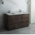 "Fresca Formosa 60"" Floor Standing Double Sink Modern Bathroom Vanity Base Cabinet w/ Top & Sinks, Base Cabinet: 60"" W x 20-3/8"" D x 34-7/8"" H"