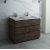 "Fresca Formosa 46"" Floor Standing Double Sink Modern Vanity Base Cabinet, 46"" W x 20"" D x 34-1/8"" H"