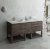 "Fresca Formosa 72"" Floor Standing Open Bottom Double Sink Modern Vanity Base Cabinet, 70"" W x 20"" D x 34-1/8"" H"