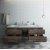 "Formosa 72"" Vanity Set w/ Top & Sinks Front View"