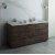 "Fresca Formosa 72"" Floor Standing Double Sink Modern Bathroom Vanity Base Cabinet w/ Top & Sinks, Base Cabinet: 72"" W x 20-3/8"" D x 34-7/8"" H"