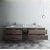 """Formosa 84"""" Vanity Set w/ Top & Sinks Opened View"""