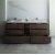 """Formosa 84"""" Vanity w/ Top & Sinks Opened View"""