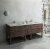 """Fresca Formosa 84"""" Floor Standing Open Bottom Double Sink Modern Bathroom Vanity Base Cabinet w/ Top & Sinks, Base Cabinet: 84"""" W x 20-3/8"""" D x 34-7/8"""" H"""