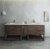 "Formosa 84"" Vanity w/ Top & Sinks Front View"