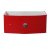 "Fresca Energia 36"" Red Modern Vanity Base Cabinet, 36"" W x 20-3/8"" D x 16"" H"