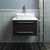 """24"""" Espresso Vanity w/ Top & Sink Front View"""