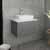 """24"""" Gray Vanity w/ Top & Sink Front View"""
