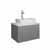 "24"" Gray Vanity w/ Top & Sink White Background"